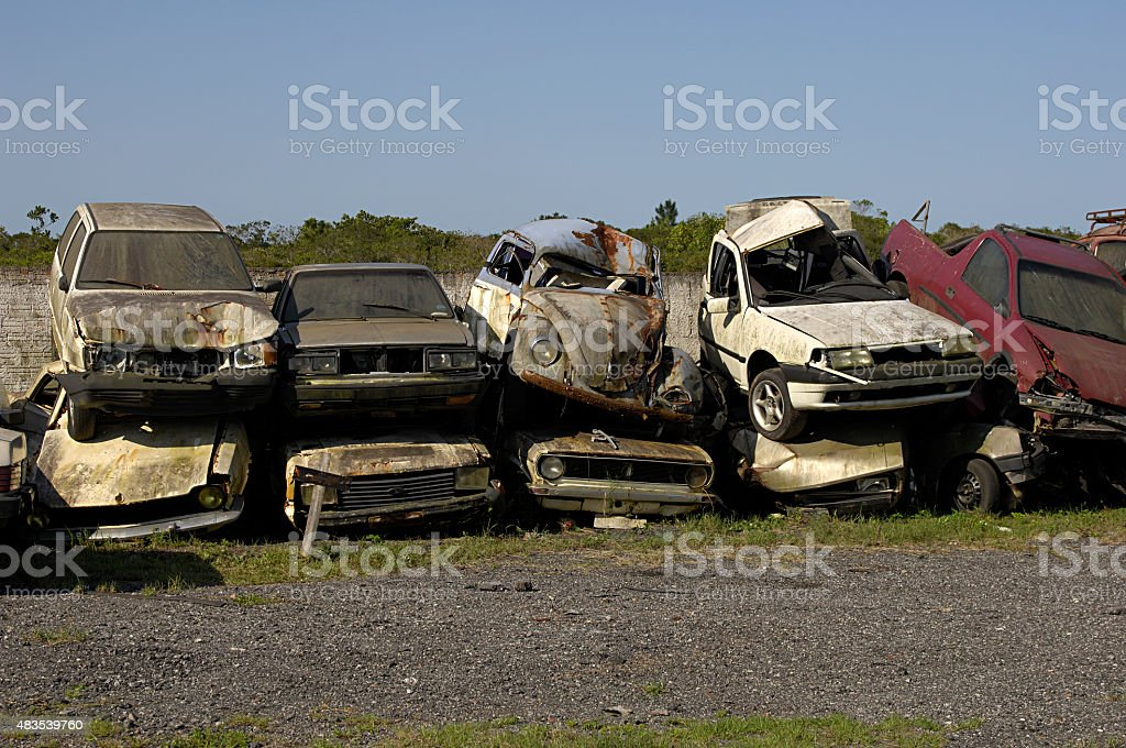 car, scrap stock photo