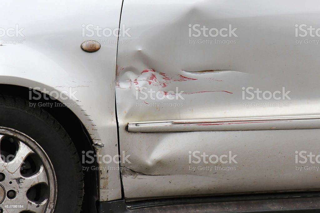 Car scratch stock photo