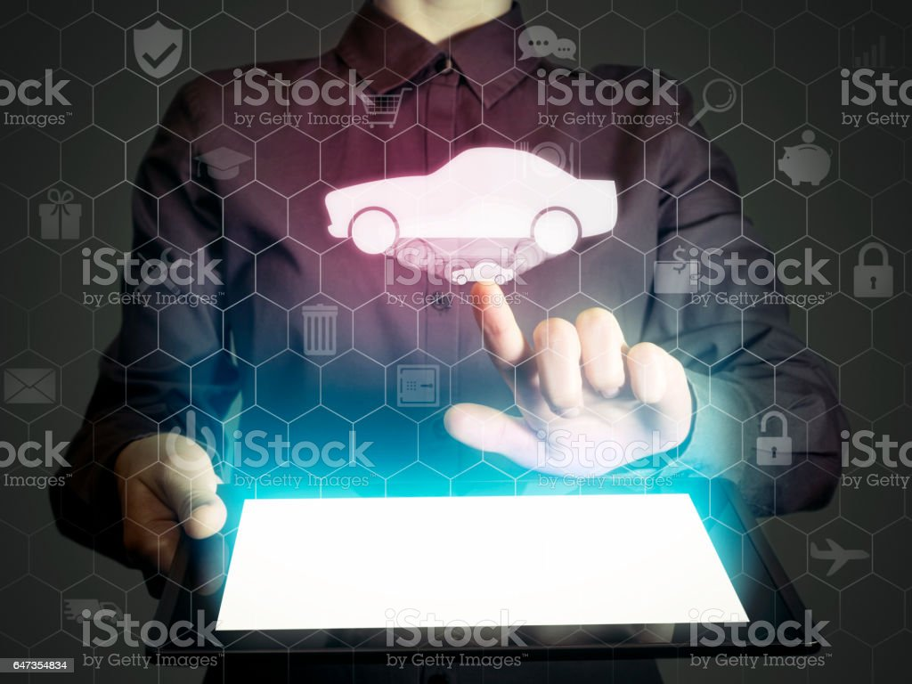 Car searching service. stock photo