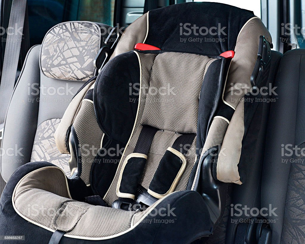 Car seat baby stock photo