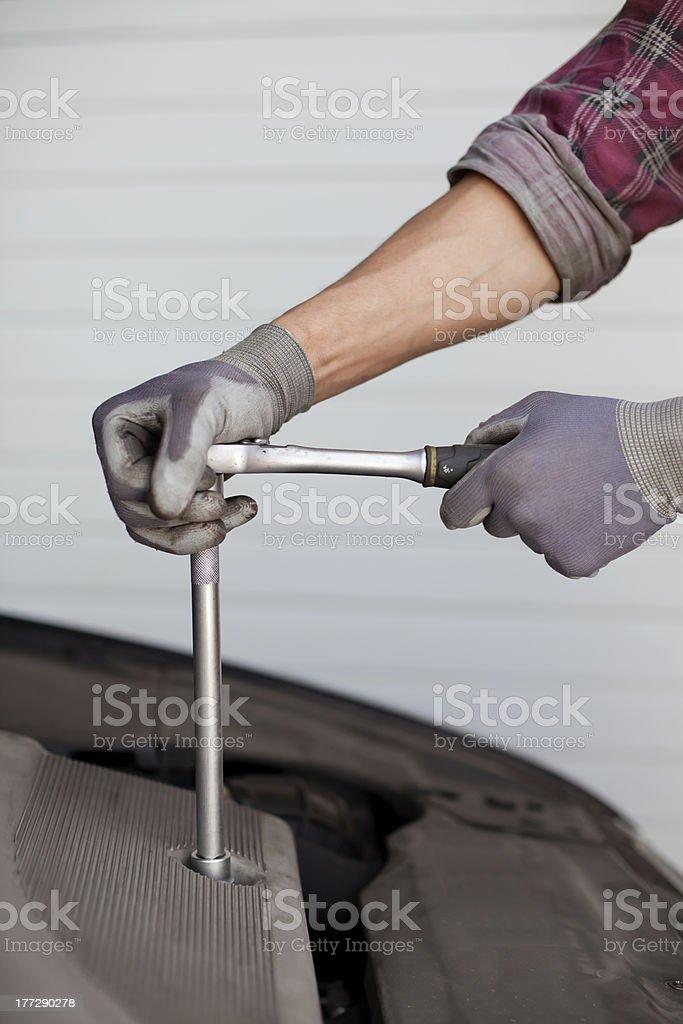 Car service detail royalty-free stock photo