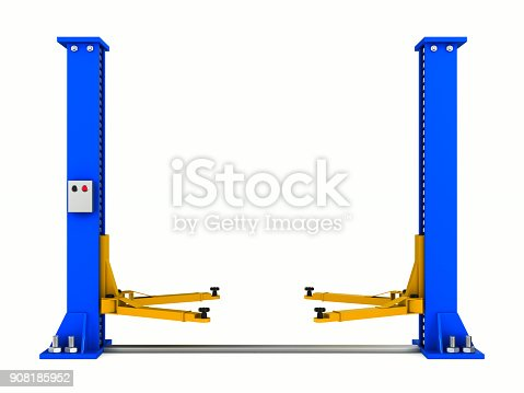 istock Car service on white background. Isolated 3D illustration 908185952
