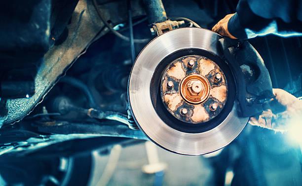 car service procedure. - 剎車制 個照片及圖片檔