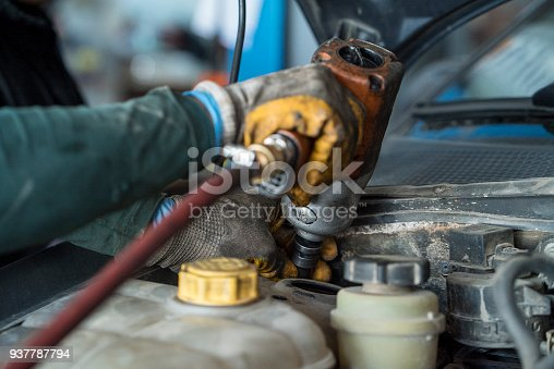 522394158 istock photo Car service procedure. 937787794