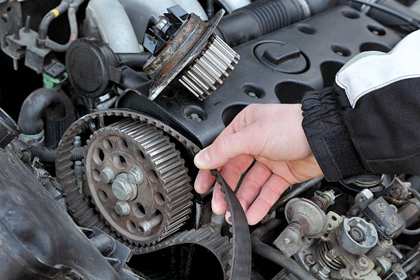 car servicing - belt stock photos and pictures