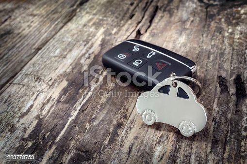 539841066 istock photo Car shape key ring and key less entry remote 1223778753