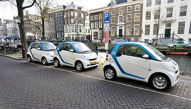 Auto Teile Projekt von Elektroautos in Amsterdam – Foto
