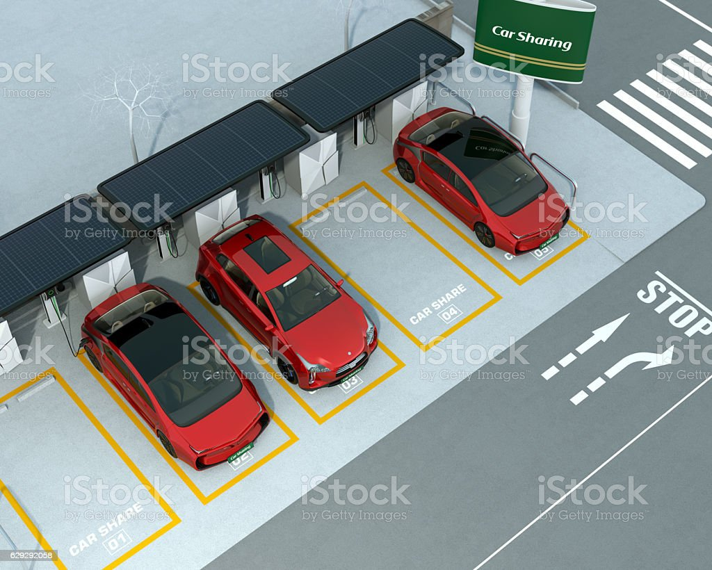Car sharing concept stock photo