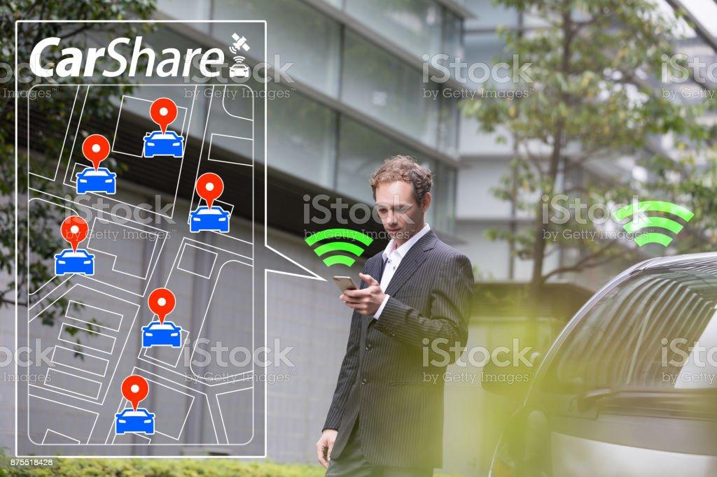 Car sharing concept. - Foto stock royalty-free di Adulto