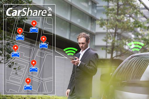 Car Sharing Concept - Fotografie stock e altre immagini di Adulto