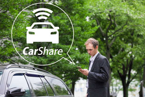 car sharing concept. - rideshare stock photos and pictures