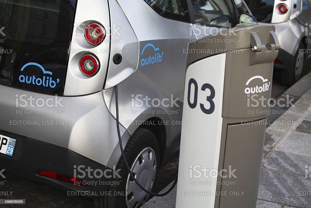 Car Sharing in Paris, France stock photo