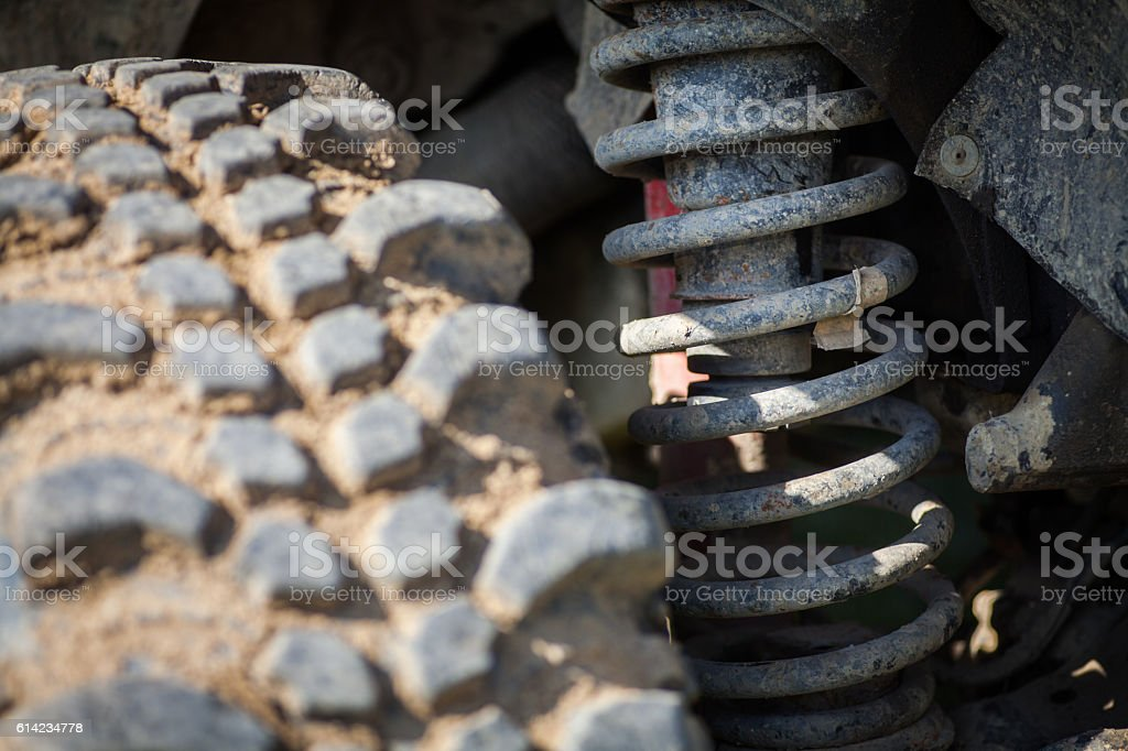 Car shock absorber stock photo