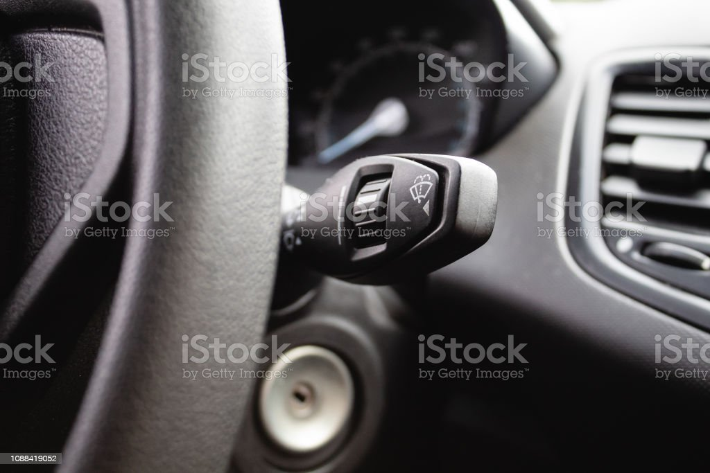 Car interior with turn signal switch