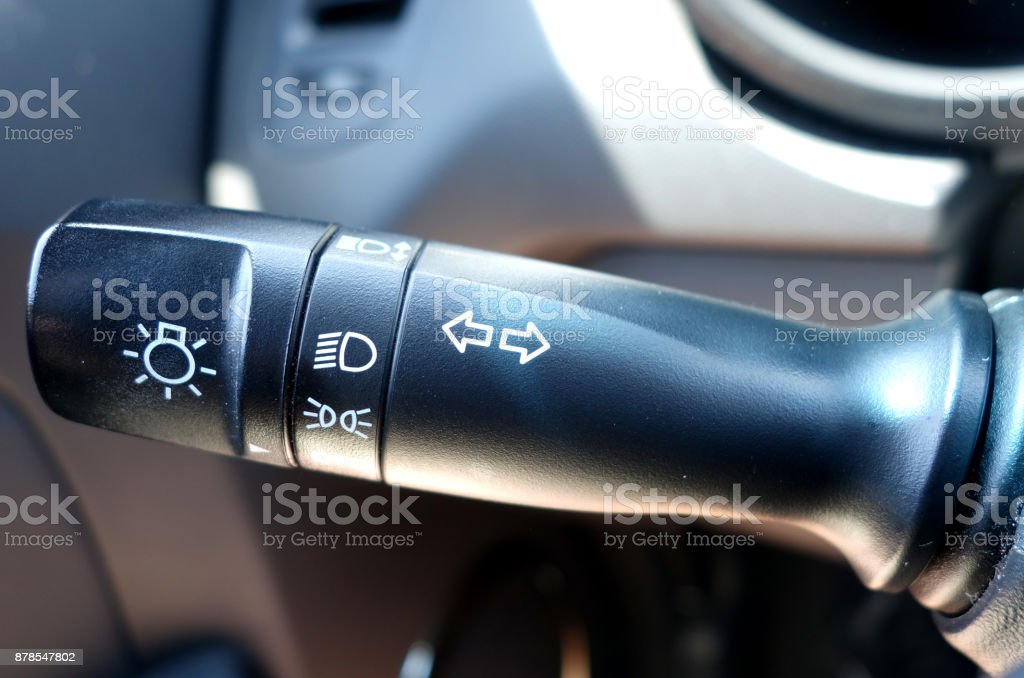 car signal switch stock photo