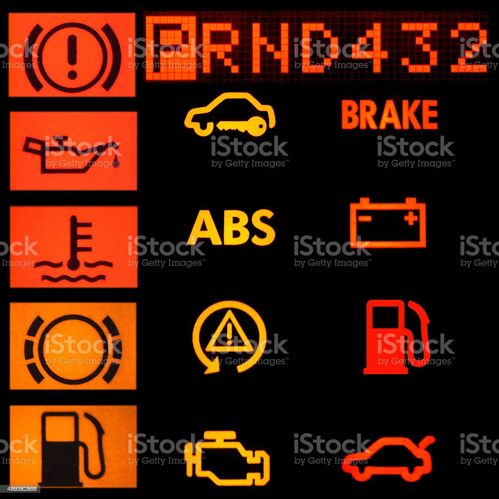 Car signs stock photo
