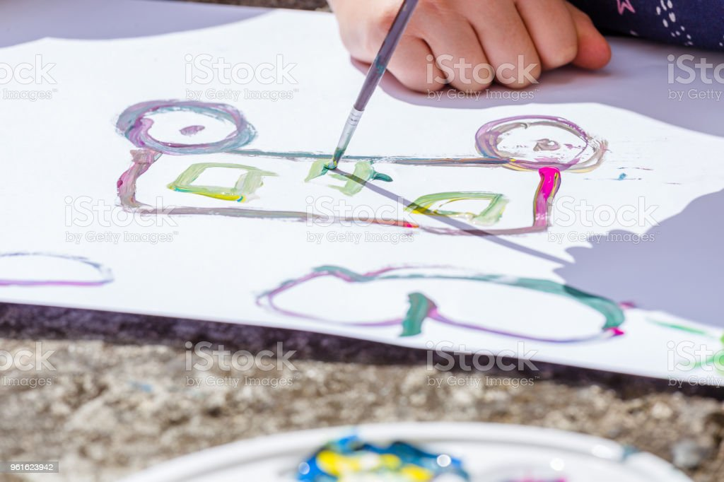 A car skecth on paper stock photo