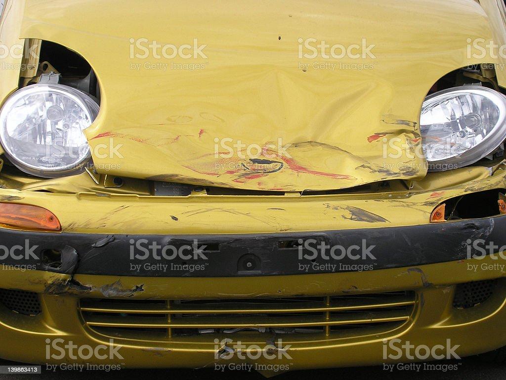 Car smash royalty-free stock photo