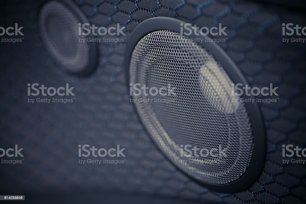 Car speaker detail stock photo