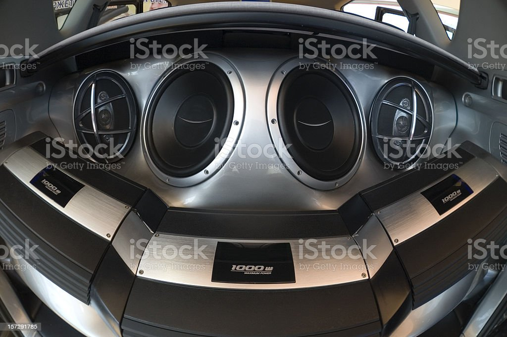 car speakers stock photo