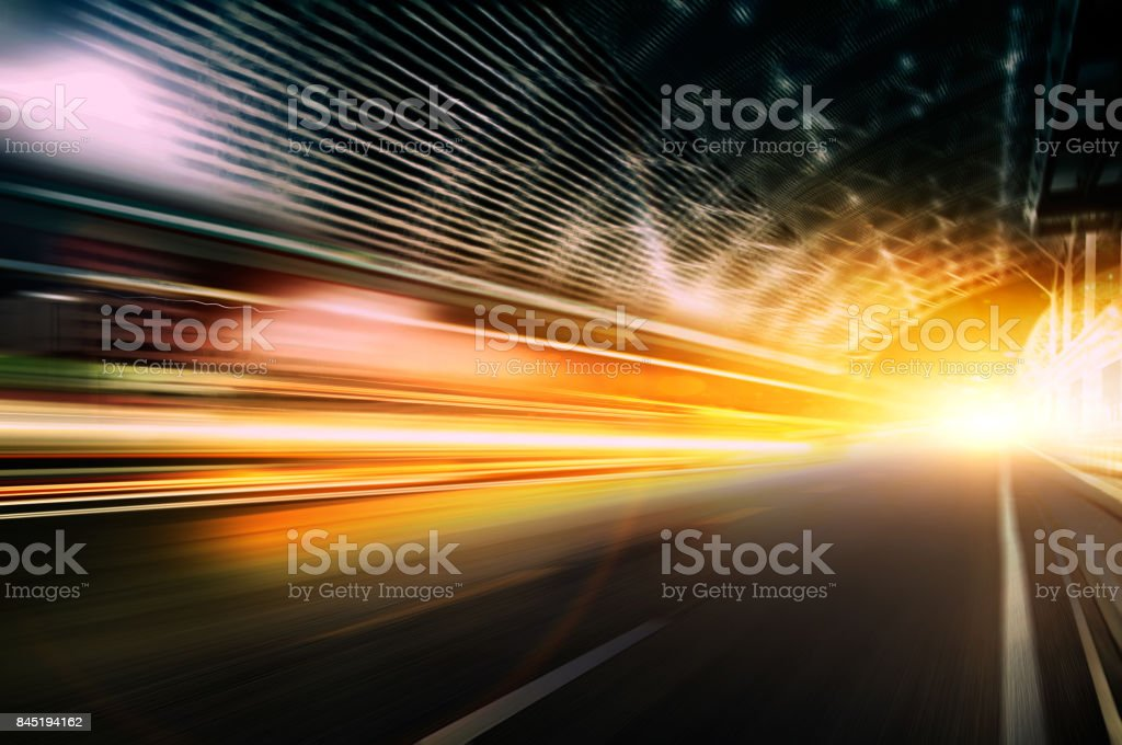 Car speed, dynamic background stock photo