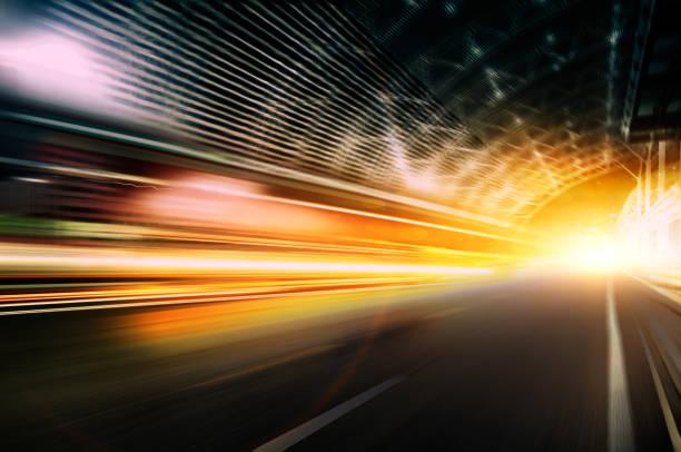 Car speed, dynamic background stock photo