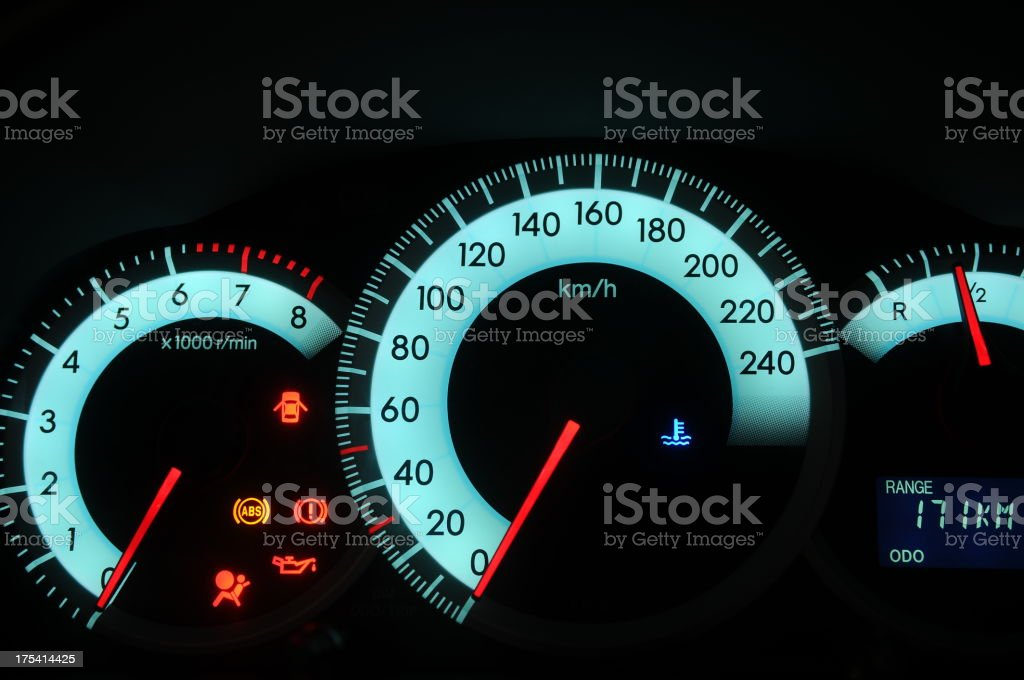 Car speed stock photo