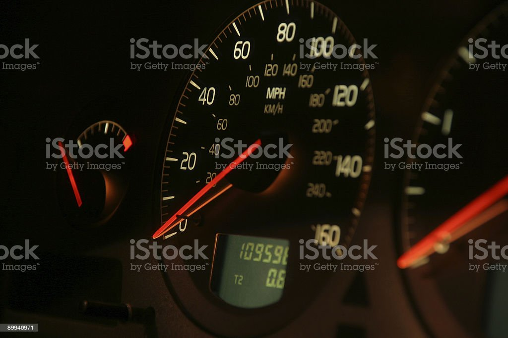 Car speedometer 4 stock photo