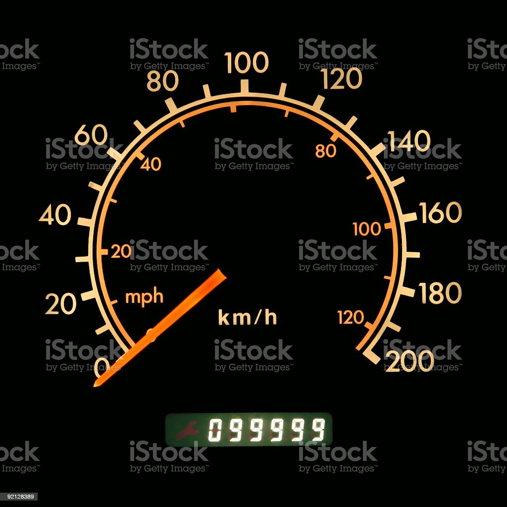 Car speedometer stock photo