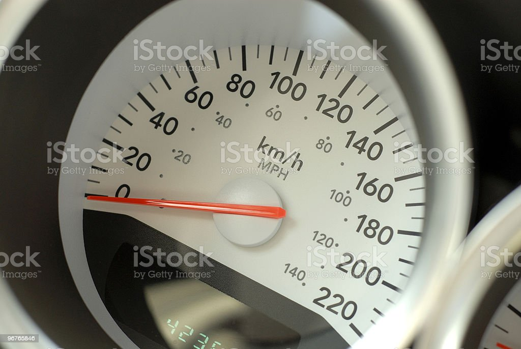 Car Speedometer royalty-free stock photo