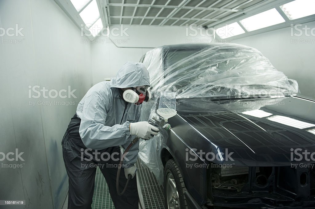 Car Spray Painting Service stock photo