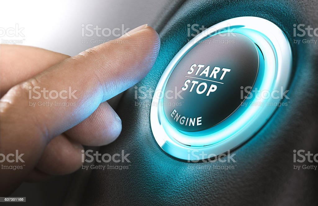Car Start and Stop Button – Foto