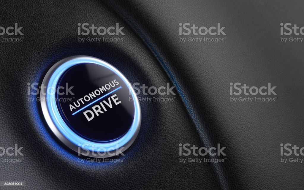 Car Start Button On Dashboard stock photo
