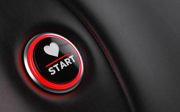car start button on dashboard - dashboard vehicle part stock photos and pictures