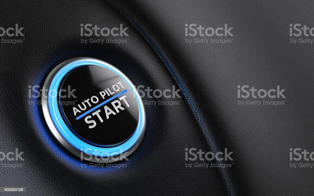Car Start Button On Dashboard royalty-free stock photo