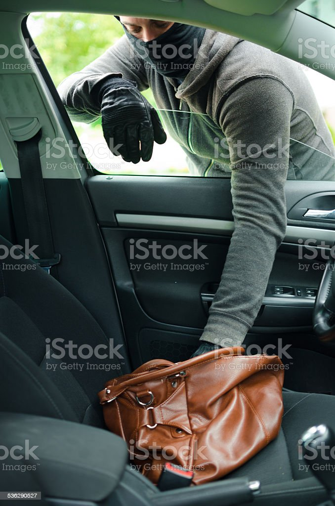 Car steal stock photo