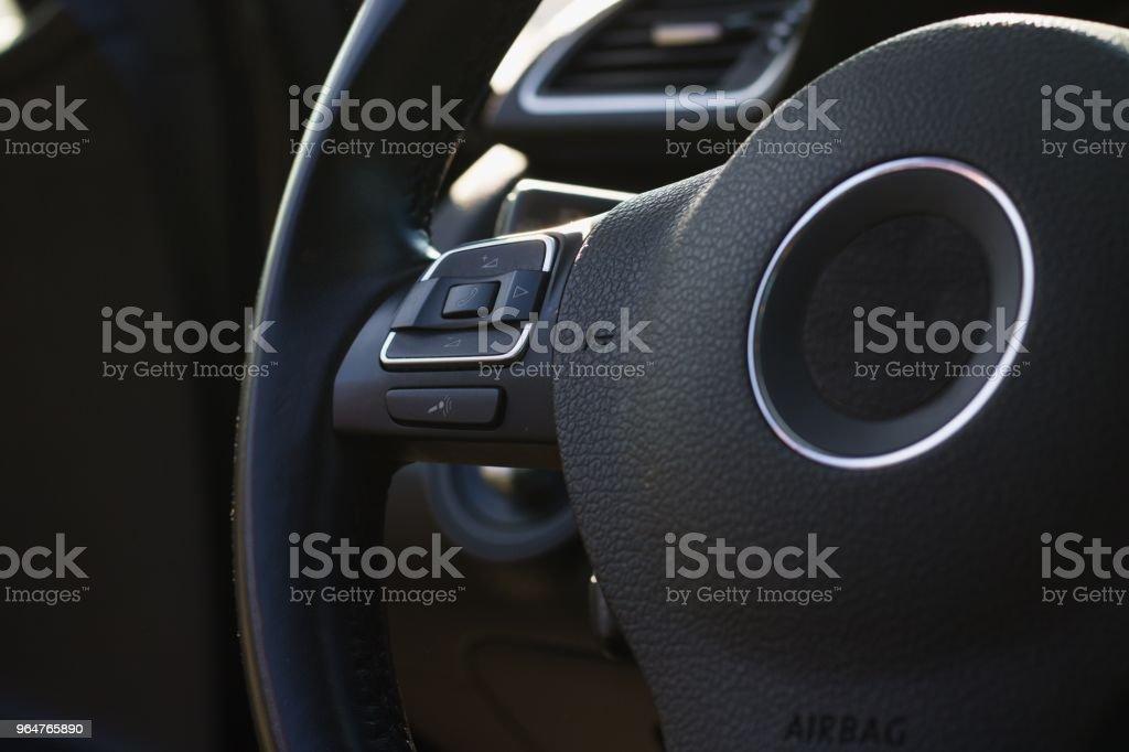 Car steering wheel royalty-free stock photo