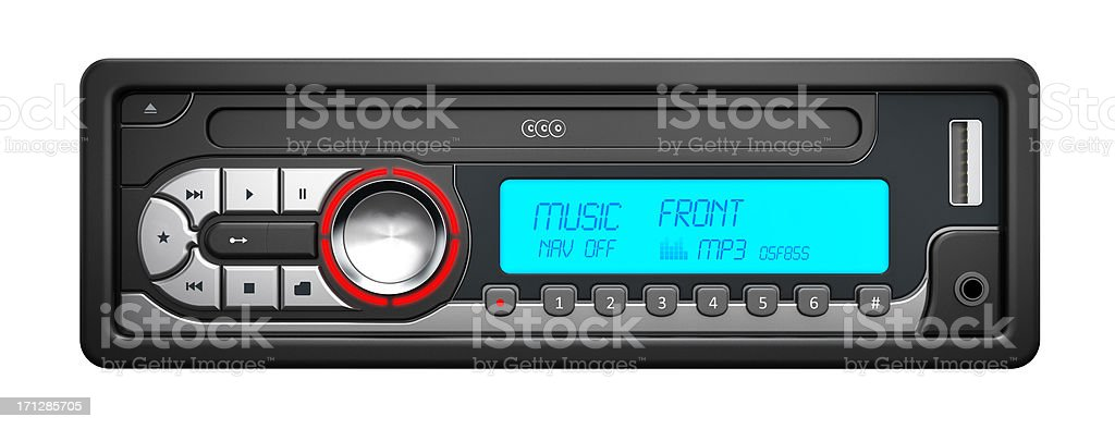 Car stereo stock photo
