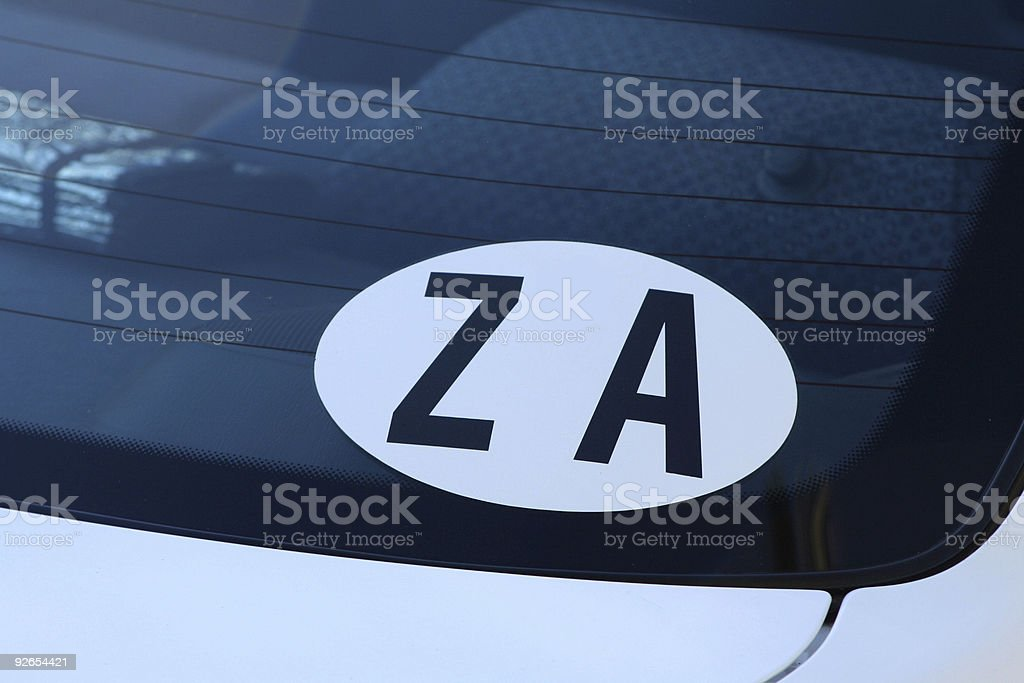 Car Sticker: Republic of South Africa royalty-free stock photo