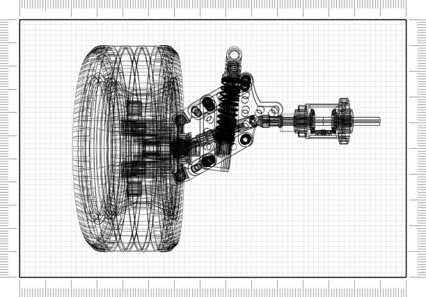 Autoaufhängung - Blueprint – Foto