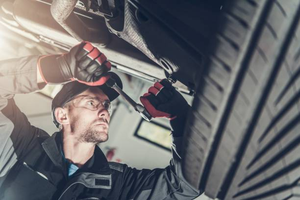 Car Suspension Maintenance stock photo
