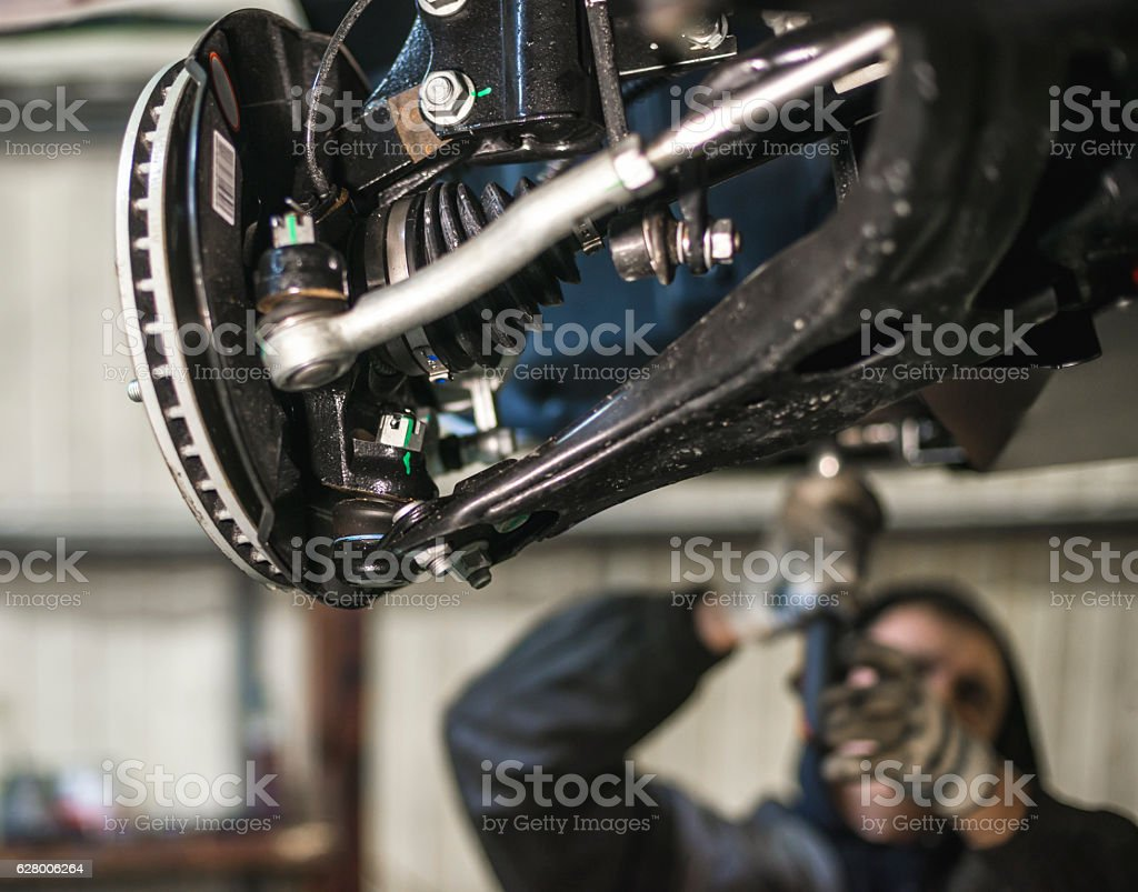 car suspension parts with shallow depth of field - Photo