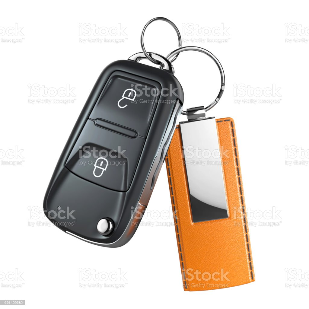 Car switchblade key with pendant stock photo