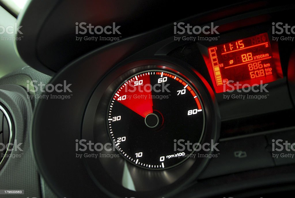 Car Tachometer royalty-free stock photo
