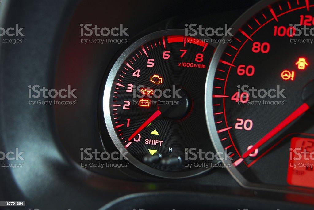 Car Tachometer royalty-free stock photo