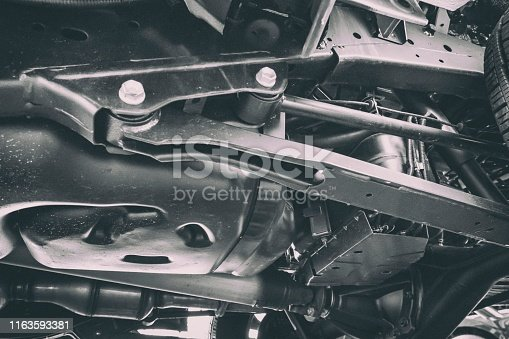 154934986 istock photo Car technology from below 1163593381