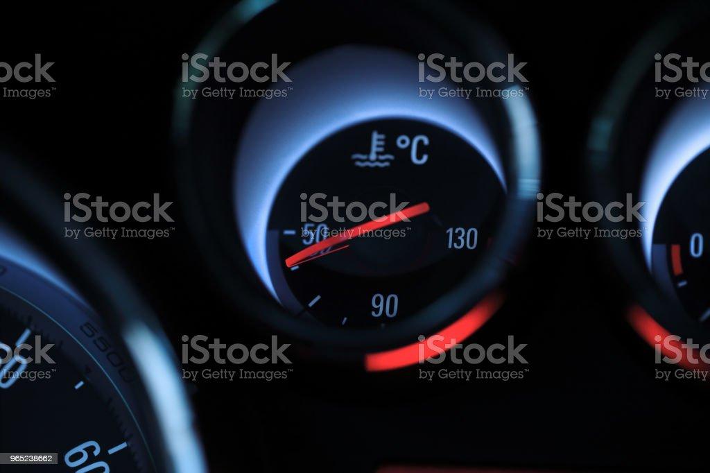 Car temperature coolant meter zbiór zdjęć royalty-free