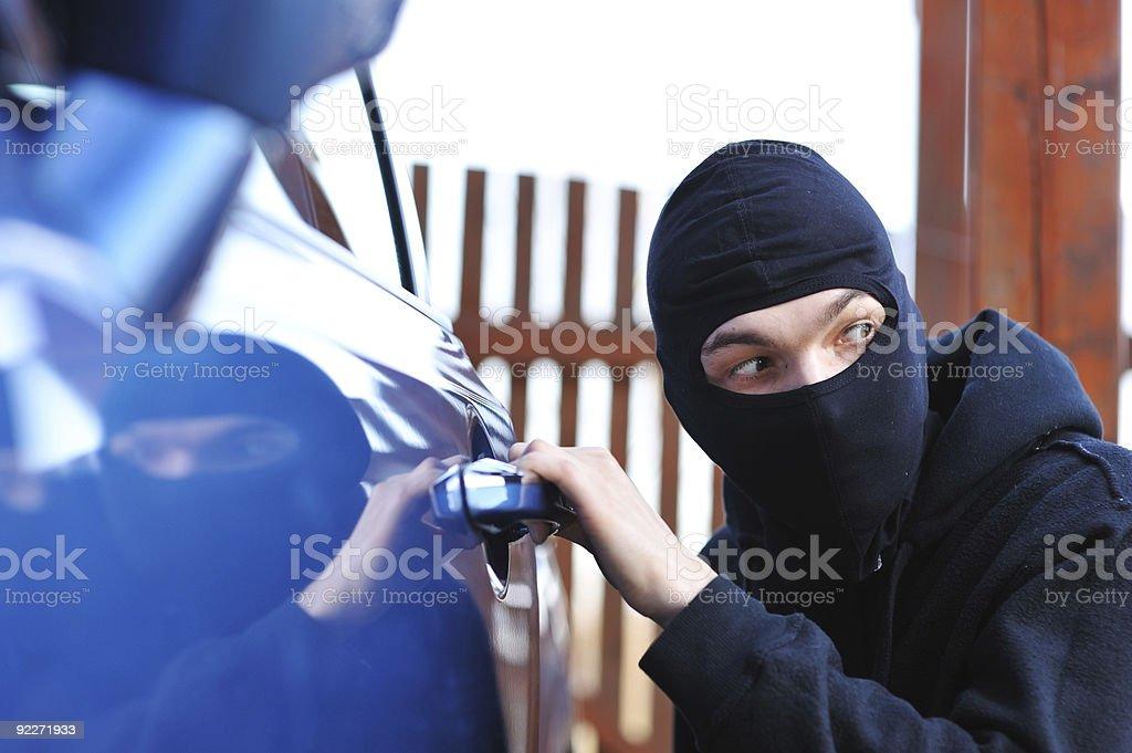 Car thief - Royalty-free Adult Stock Photo