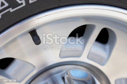 Car tire, wheel, and valve stem