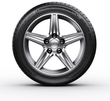 istock Car tire 167167461